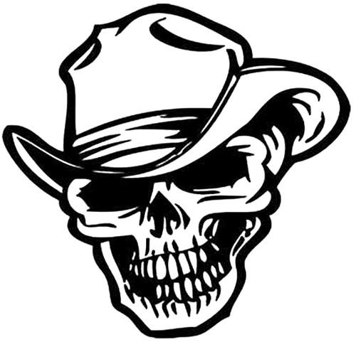 Cowboy Skull Style 2