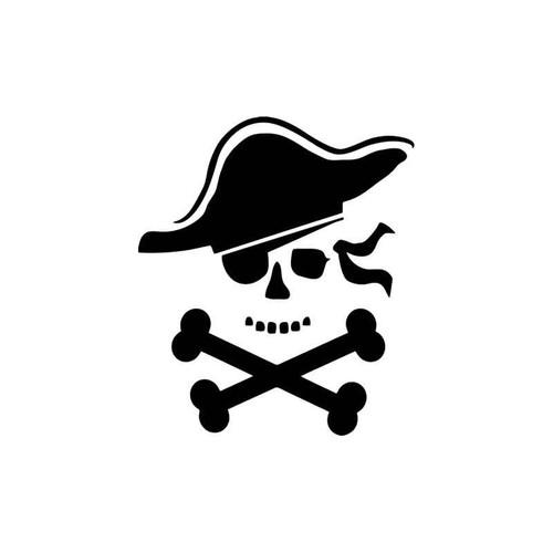 Skulls s Crossbones Pirate Skull Vinyl Sticker