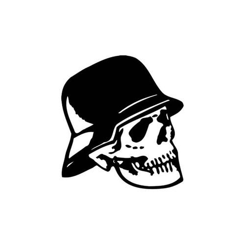 Skulls s Dead German Soldier Skull Vinyl Sticker