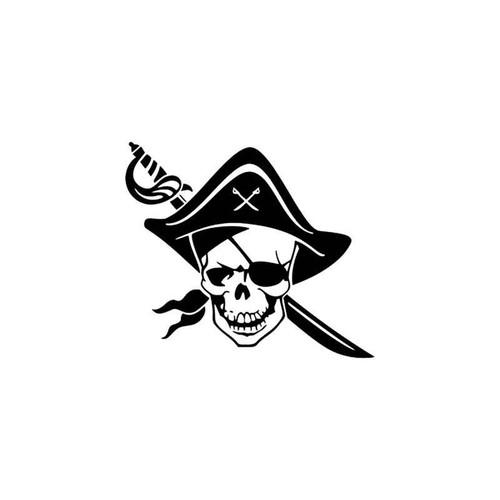 Skulls s Pirate Death Skull Vinyl Sticker