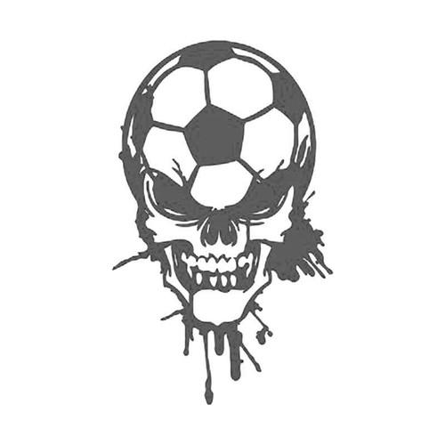 Skulls s Soccer Blood Dripping Skull Vinyl Sticker