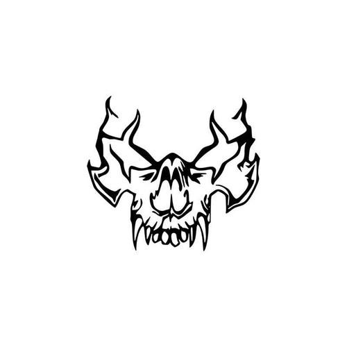 Skulls s Tribal Vampire Skull Vinyl Sticker