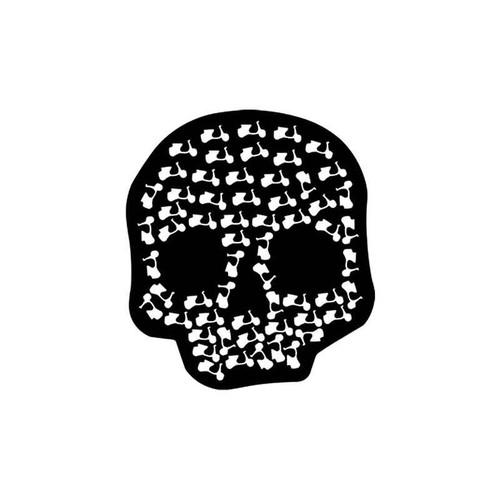 Skulls s Vespa Scooter Death Skull Vinyl Sticker