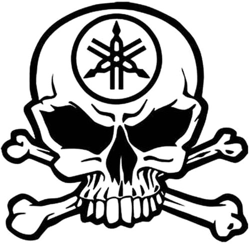 Yamaha Skull And Crossbones
