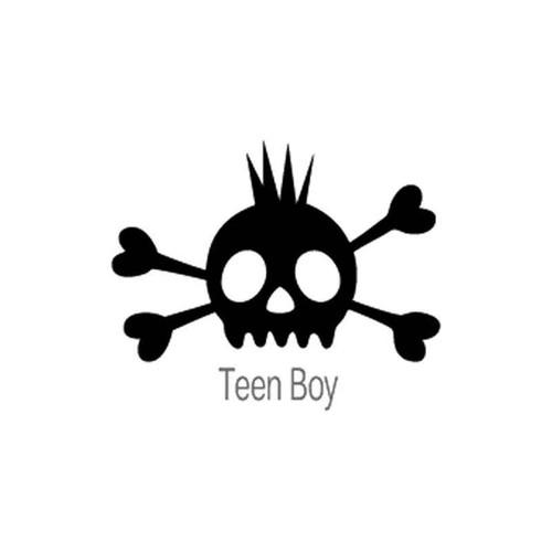 Skull Teen Boy 70 Vinyl Sticker