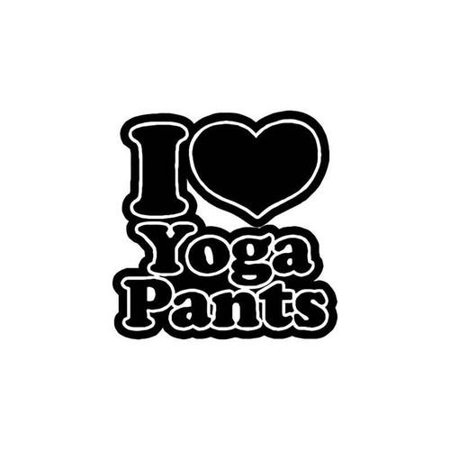Yoga Pants Recreational Vinyl Sticker