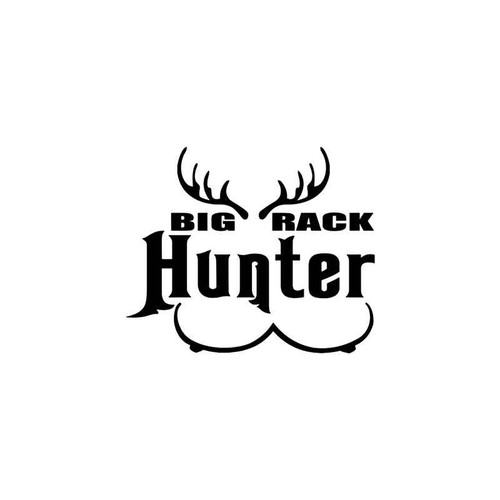 Big Rack Hunter Sportsman Vinyl Sticker