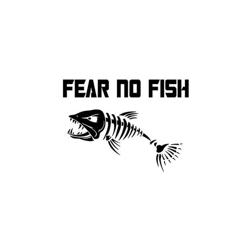 Fear No Fish Sportsman Vinyl Sticker