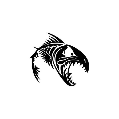 Fish Skeleton Style 1 Vinyl Sticker
