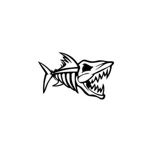 Fish Skeleton Sportsman Style 3 Vinyl Sticker