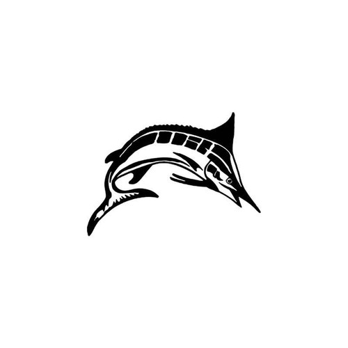 Marlin Fishing Style 2 Vinyl Sticker
