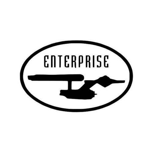 Star Trek Enterprise Star Trek 2 Vinyl Sticker