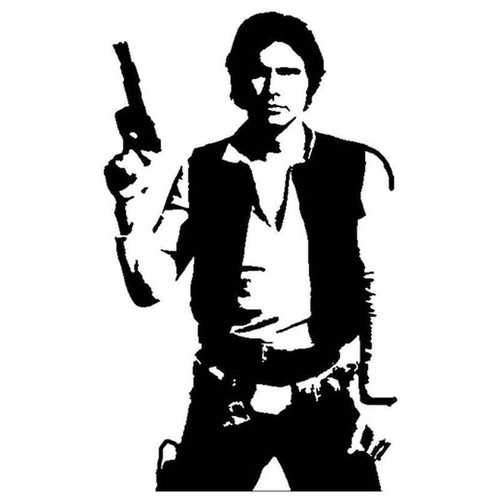 Star Wars Han Solo 97 Vinyl Sticker