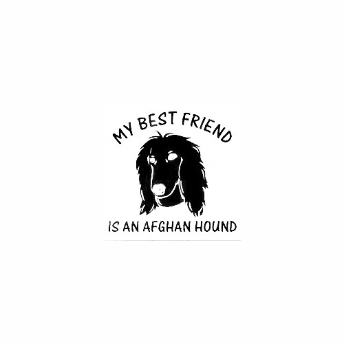 Afghan Head Best Friend Decal Size option will determine the size from the longest side Industry standard high performance calendared vinyl film Cut from Oracle 651 2.5 mil Outdoor durability is 7 years Glossy surface finish