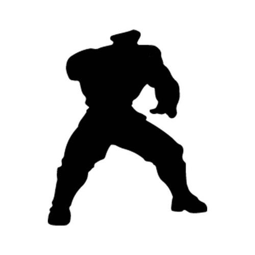 Street Fighter Siluettes Of Bison Vinyl Sticker