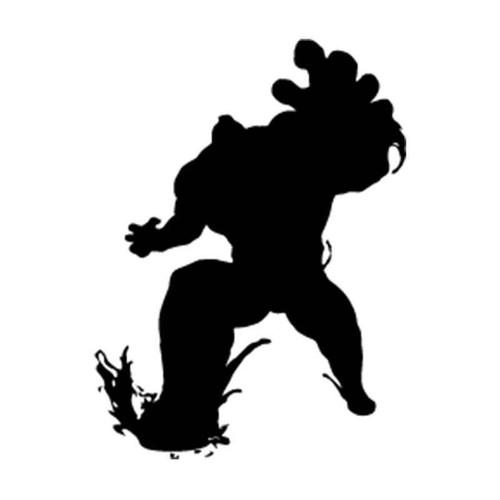 Street Fighter Zangief Silhouette Vinyl Sticker