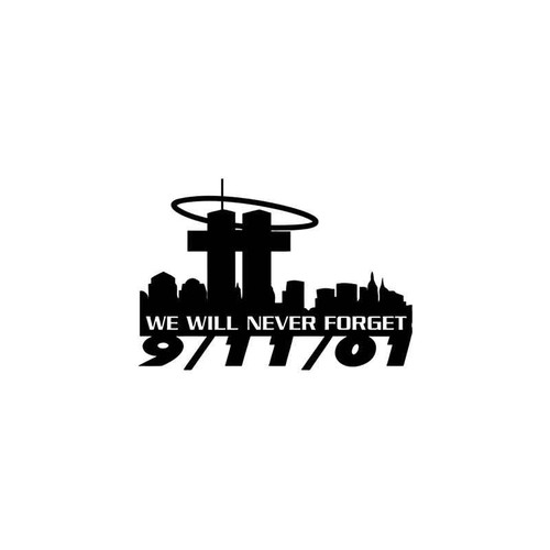 911 Attack Twin Towers Symbolic Vinyl Sticker
