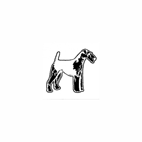Airedale Terrier Standing Decal Size option will determine the size from the longest side Industry standard high performance calendared vinyl film Cut from Oracle 651 2.5 mil Outdoor durability is 7 years Glossy surface finish