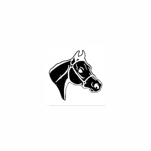 Solid Arabian Horse Head Decal Size option will determine the size from the longest side Industry standard high performance calendared vinyl film Cut from Oracle 651 2.5 mil Outdoor durability is 7 years Glossy surface finish