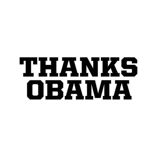 Thanks Obama 2 Vinyl Sticker