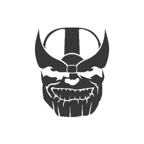 Thanos Marvel Comic Bumper Dc Villain Vinyl Sticker
