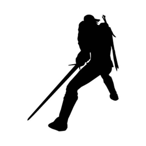 The Witcher 3 Wild Hunt Geralt Of Rivia Silhouettes Vinyl Sticker
