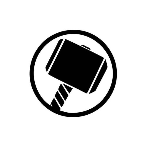Thor Mjolnir Hammer 897 Vinyl Sticker