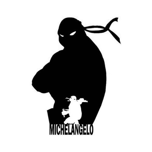 Tmnt Michelangelo 019 Vinyl Sticker