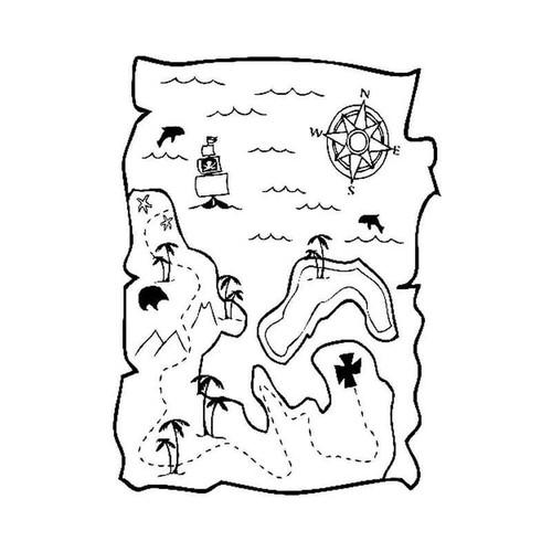 Treasure Map 886 Vinyl Sticker