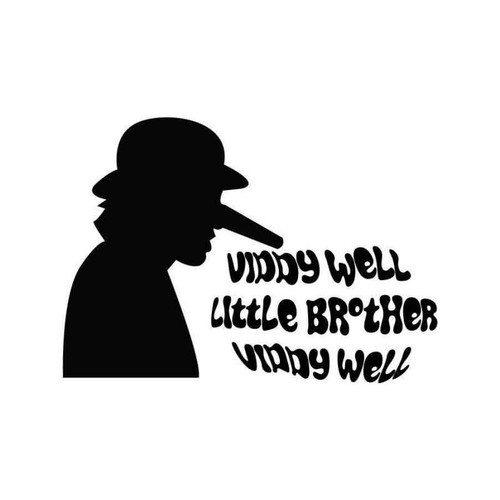Viddy Well Little Brother Clockwork Orange 2 Vinyl Sticker