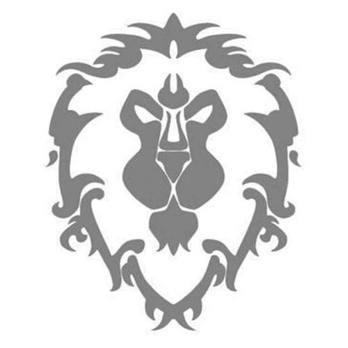 World Of Warcraft Alliance Lion Symbol For Vinyl Sticker