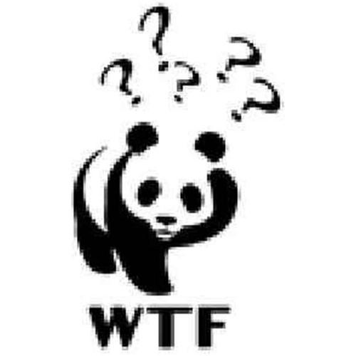Wtf Panda Vinyl Sticker