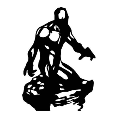 X Men Iceman Silhouette Vinyl Sticker