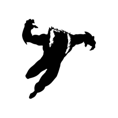 X Men Sabretooth Silhouette Vinyl Sticker