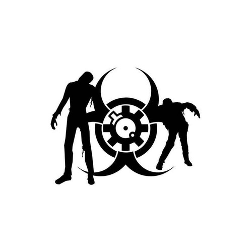 Zombie Biohazard 90 Vinyl Sticker