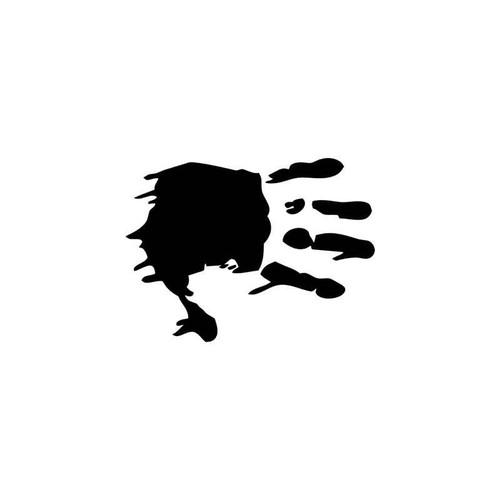 Bloody Handprint Zombies Vinyl Sticker