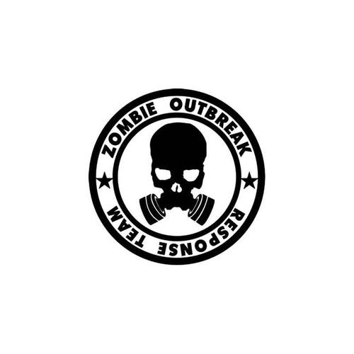 Zombie Outbreak Response Team Style 13 Vinyl Sticker
