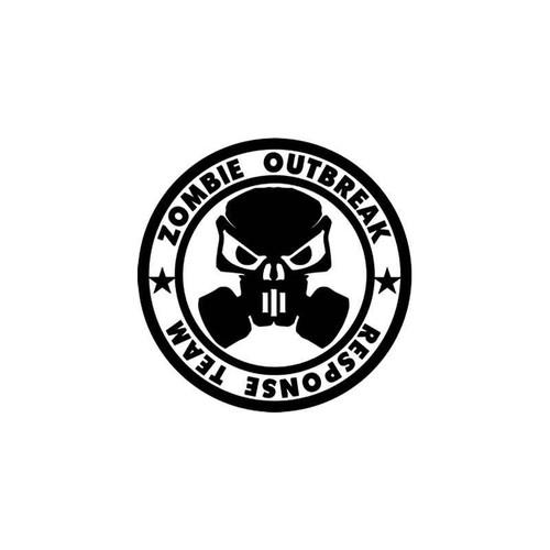 Zombie Outbreak Response Team Style 7 Vinyl Sticker