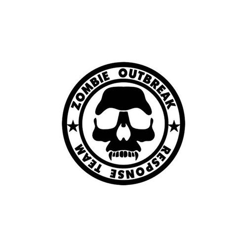 Zombie Outbreak Response Team Style 9 Vinyl Sticker