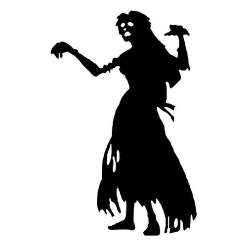 Zombie Female 839 Vinyl Sticker