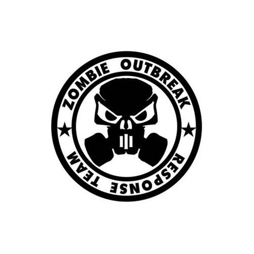 Zombie Outbreak 053 Vinyl Sticker