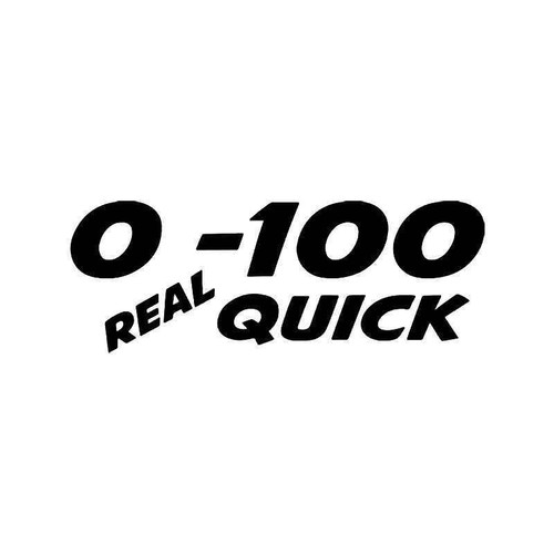 0 To 100 Real Quick Jdm Japanese Vinyl Sticker