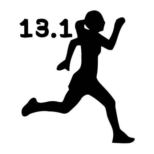 13.1 Miles Half Marathon Women Vinyl Sticker