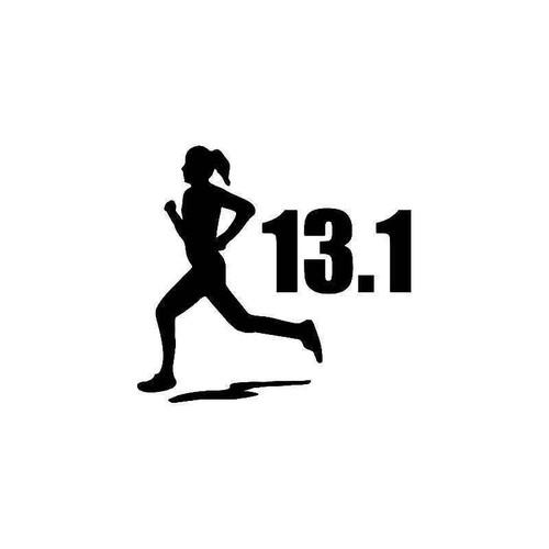 13.1 Miles Half Marathon Women 2 Vinyl Sticker