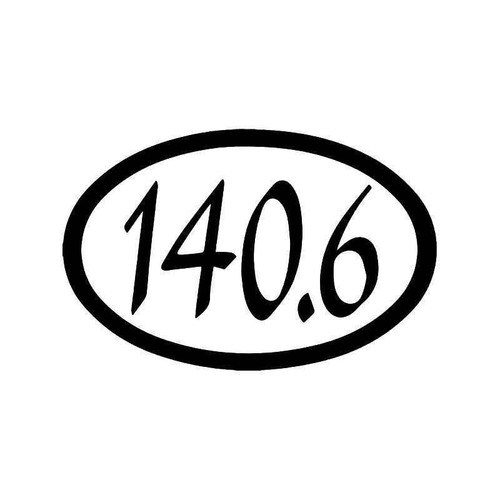 140.6 Miles Ironman Marathon Vinyl Sticker