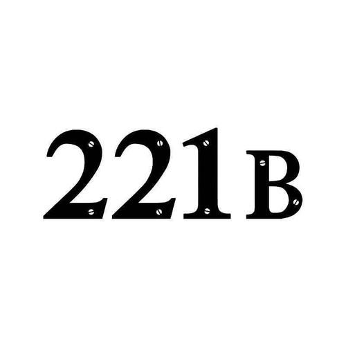 221b Sherlock Holmes Address Vinyl Sticker