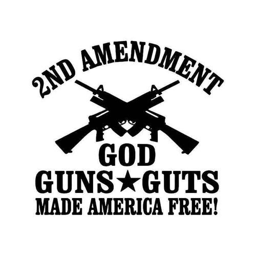 2nd Amendment Guns Vinyl Sticker