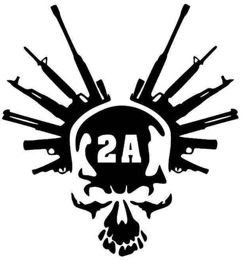 2nd Amendment Guns Skull