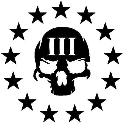 3 Percenter Skull and Stars