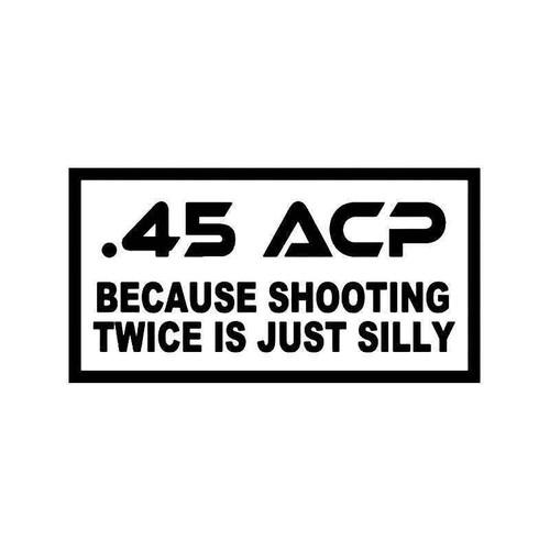 45 Acp Ammo Bullet Vinyl Sticker